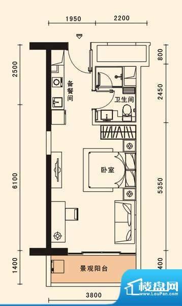 格力香樟户型图1栋06、10户型 面积:45.18平米