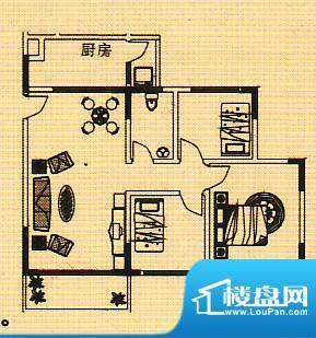 富逸花园户型图三房 3室1厅1卫面积:92.78平米