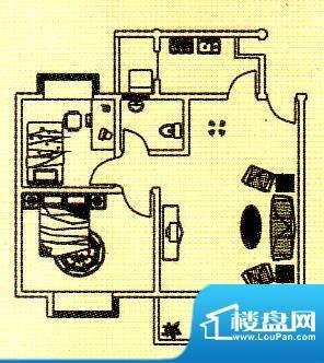 富逸花园户型图两房 2室1厅1卫面积:78.82平米