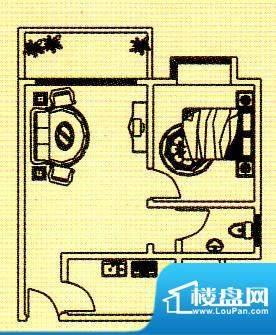 富逸花园户型图一房 1室1厅1卫面积:55.59平米