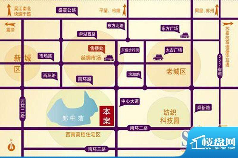 锦盛苑交通图