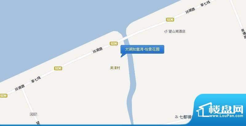 太湖如意湾·怡景花园交通图