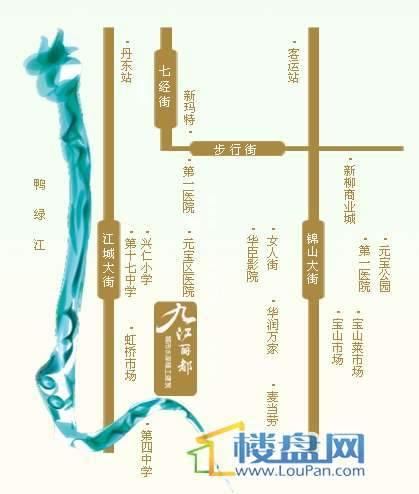 九江丽都交通图