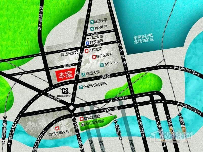 国际城交通图