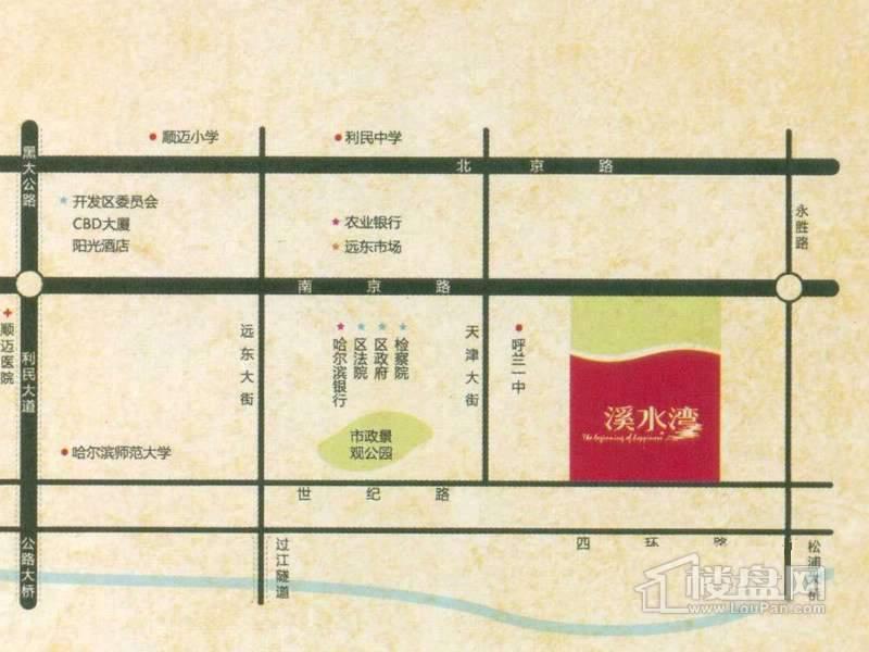 溪水湾交通图