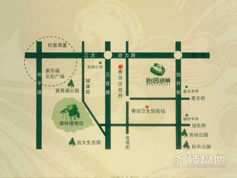 怡园绿景交通图