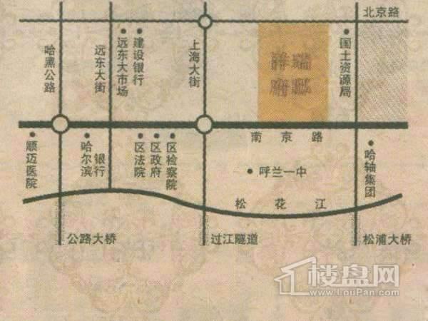 祥瑞府邸交通图