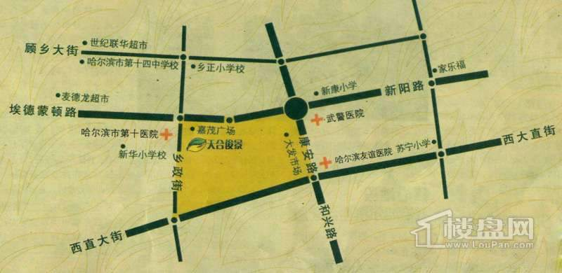 桐楠格天合俊景交通图