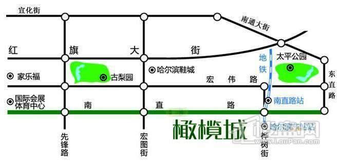 橄榄城交通图