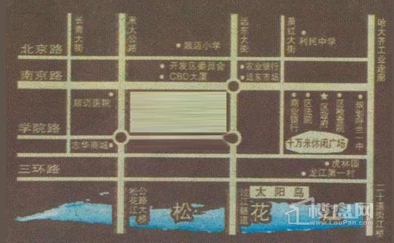 国基名墅交通图