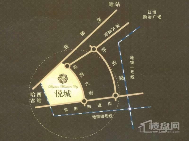悦城交通图