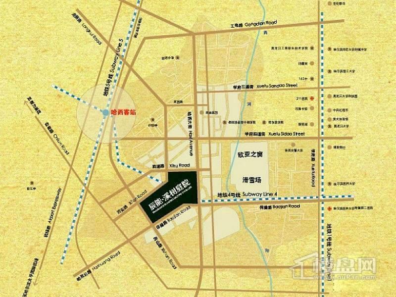 辰能溪树庭院交通图