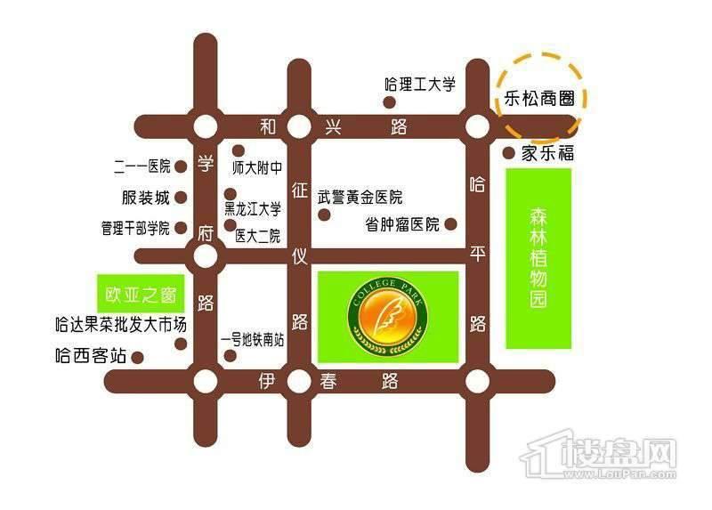 学院新城交通图