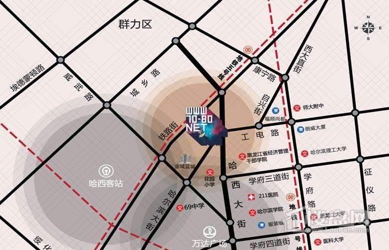 柒零捌零 城仕公馆交通图