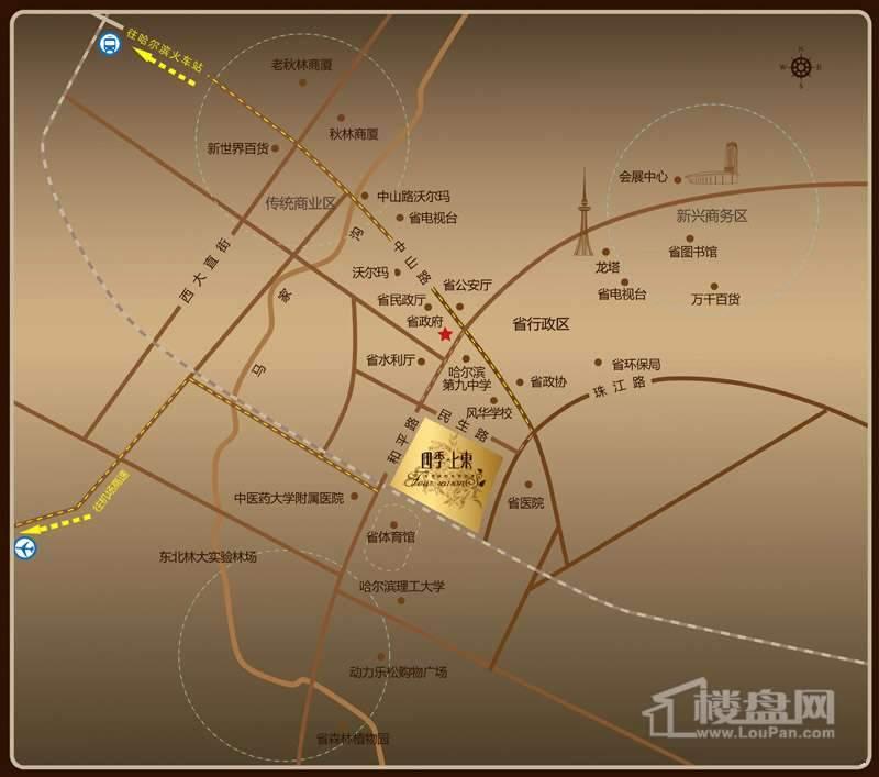 四季上东交通图