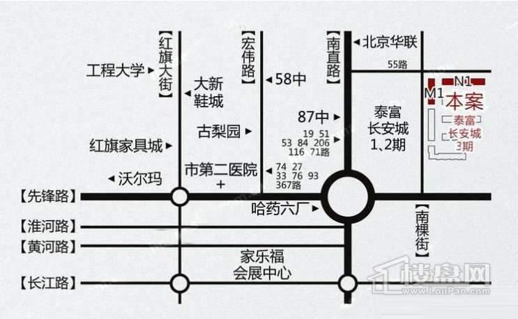 泰富长安城交通图