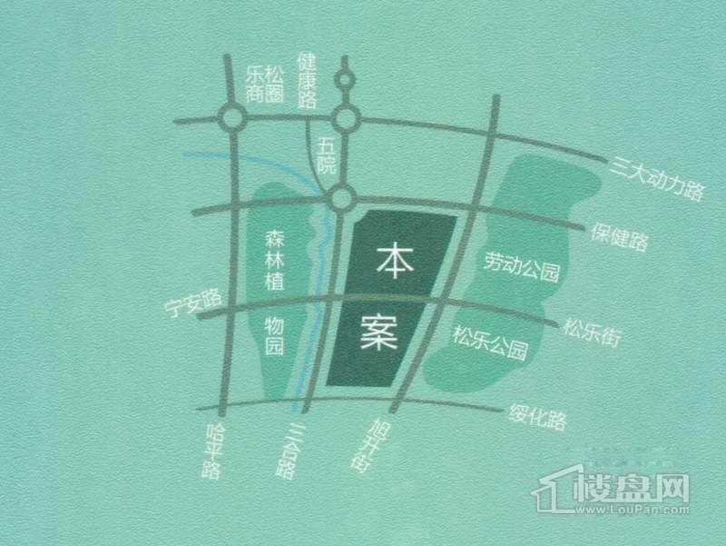 海富漫香林交通图