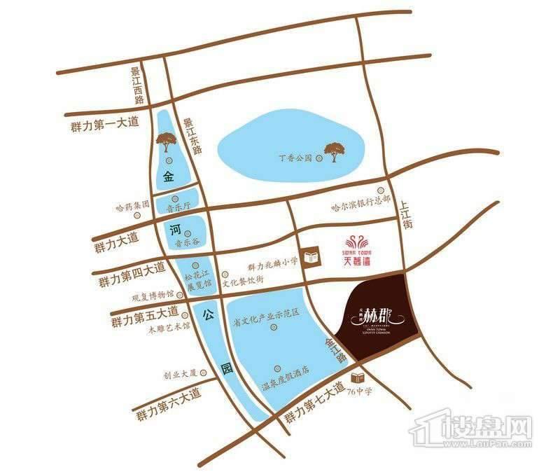 天鹅湾赫郡交通图