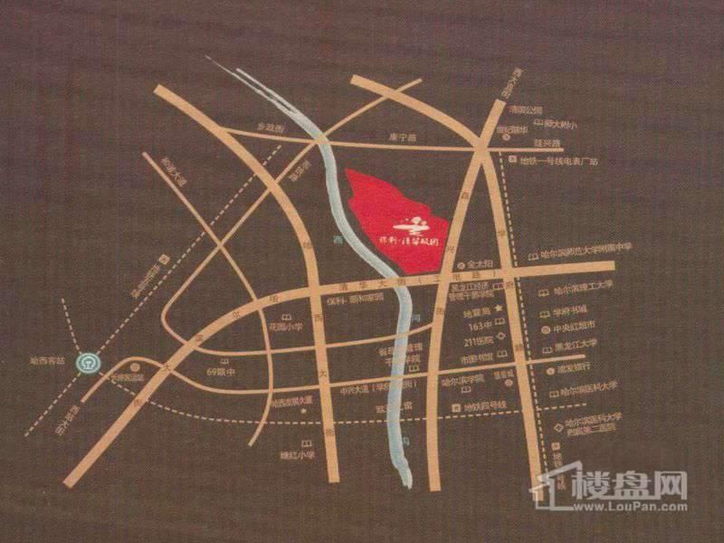 保利清华颐园交通图