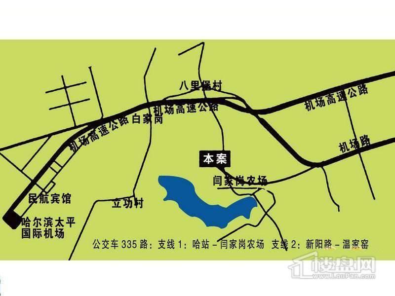 安居绿园交通图