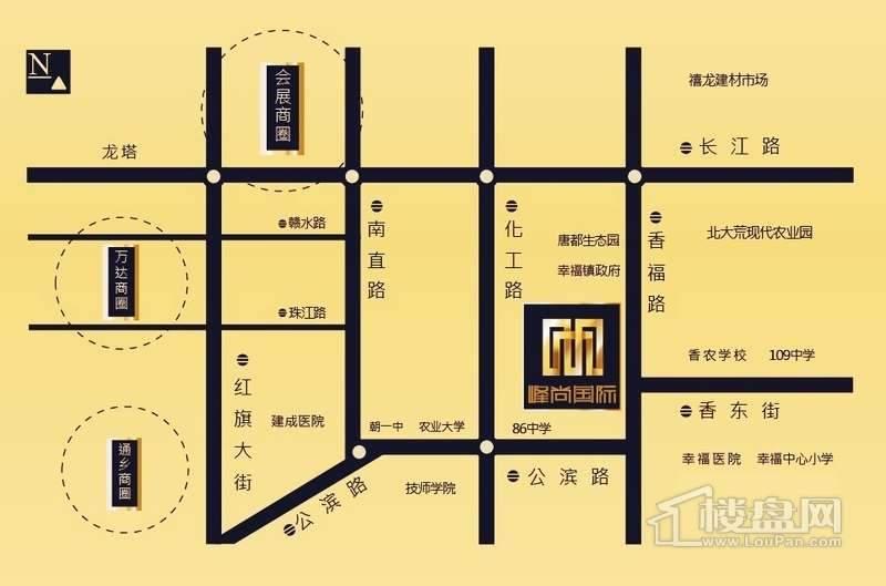 峰尚国际交通图