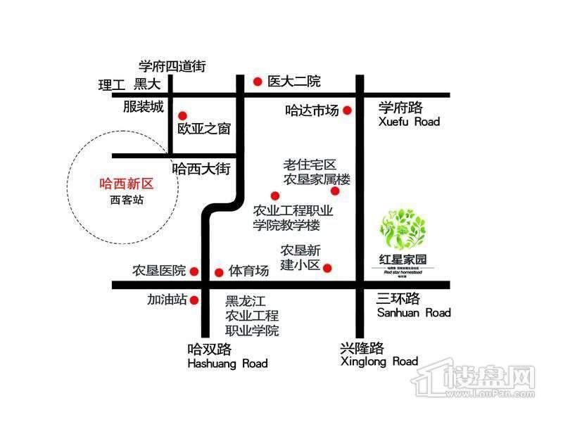 红星家园交通图