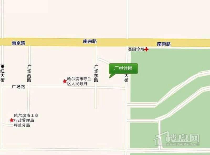 广电佳园交通图
