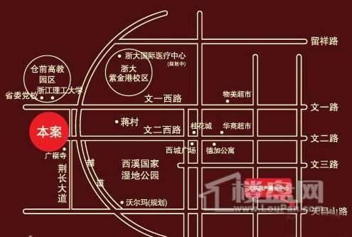 大华·西溪风情·悦宫交通图