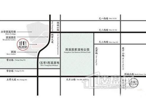香洲里交通图