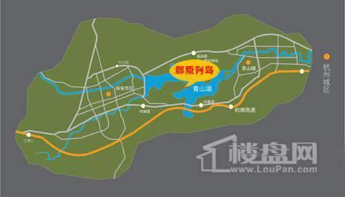 郡原列岛花园交通图