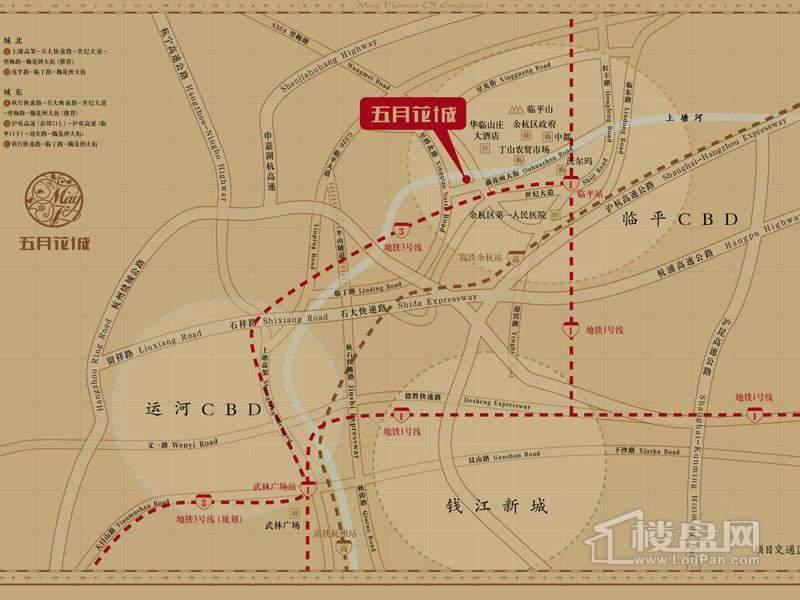 垄城·五月花城交通图
