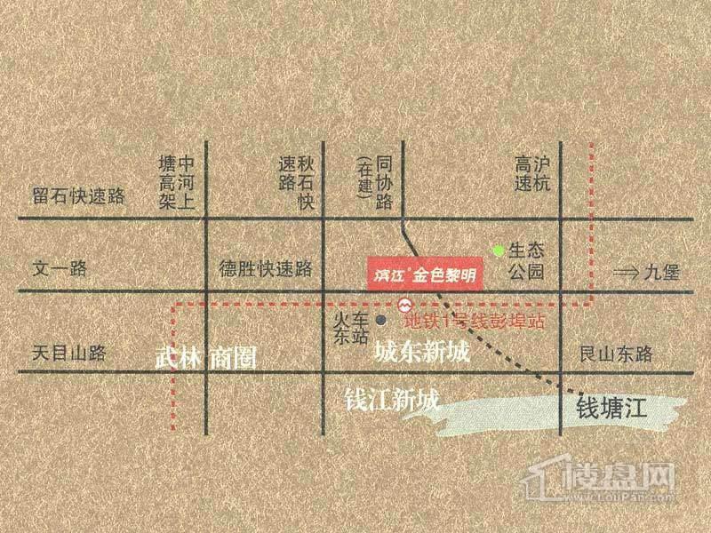 滨江·金色黎明交通图