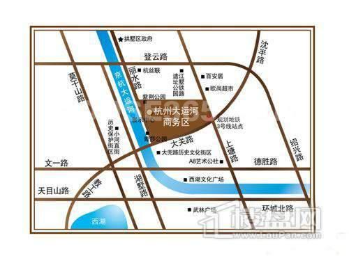 远洋·杭州大运河商务区交通图