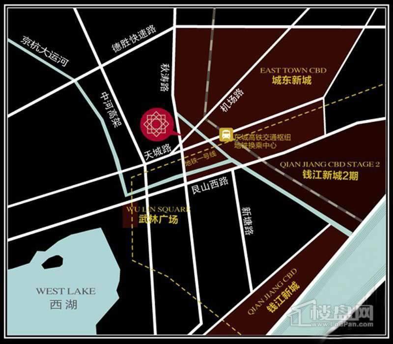 恒祺·克拉公馆交通图