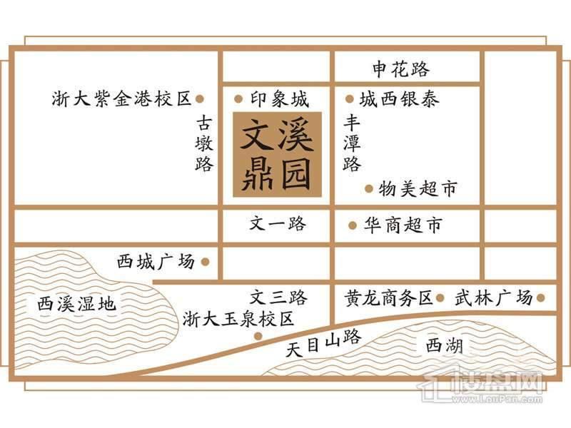 天湖·文溪鼎园交通图