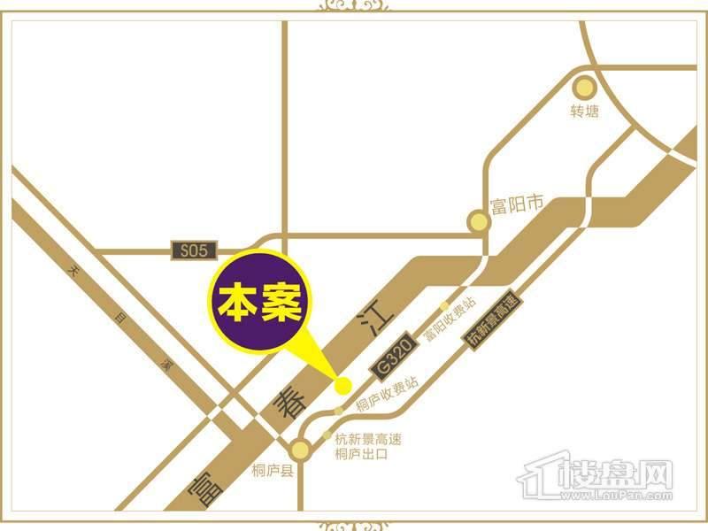 江南铭庭交通图