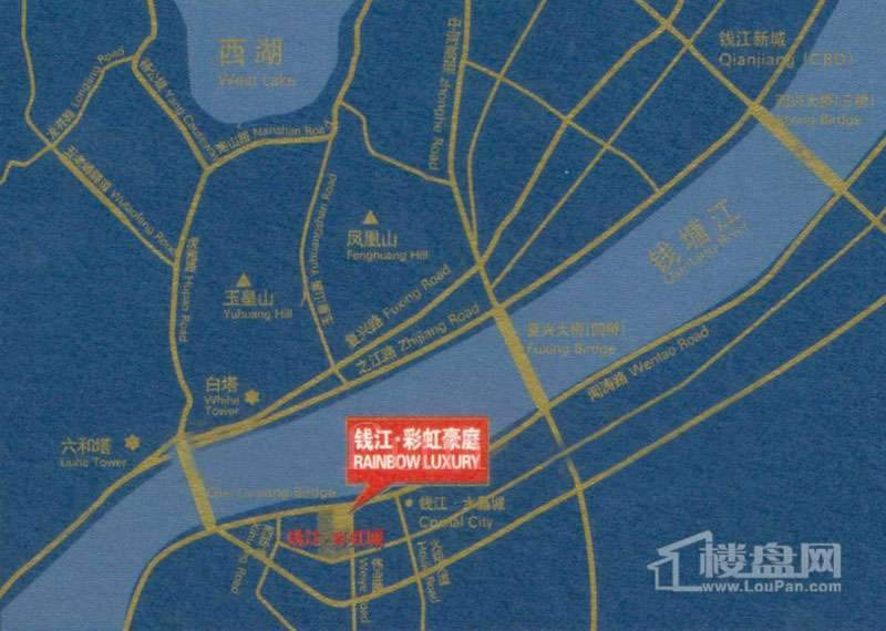 钱江·彩虹豪庭交通图