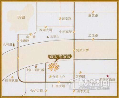 钱江·水晶澜轩交通图