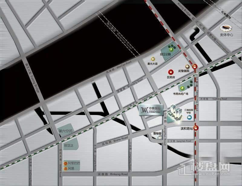 中赢国际交通图
