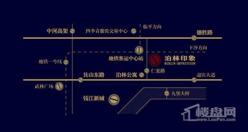 德信·泊林印象交通图