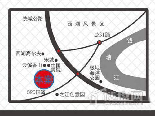 西房·云溪印象交通图