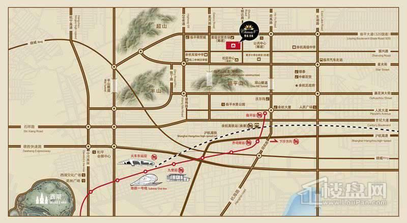 赞成·香颂交通图