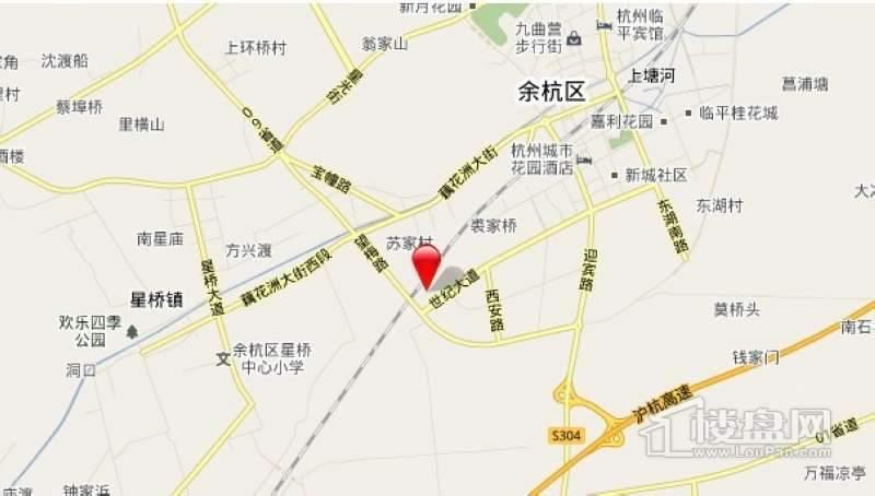 钱塘·梧桐蓝山交通图