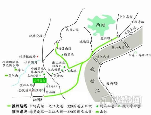 西房云溪香山交通图