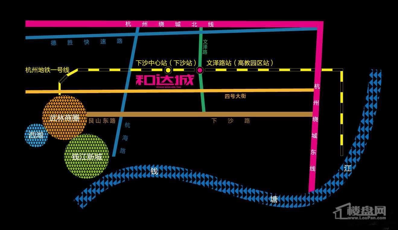 和达城交通图