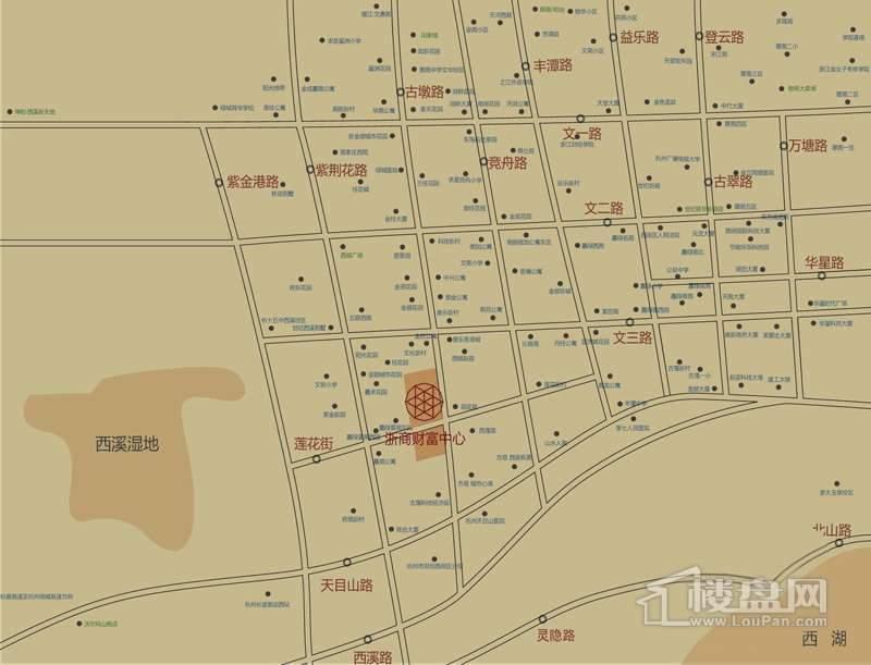 浙商财富中心商铺交通图