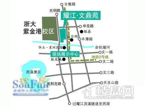 耀江文鼎苑沿街商铺交通图
