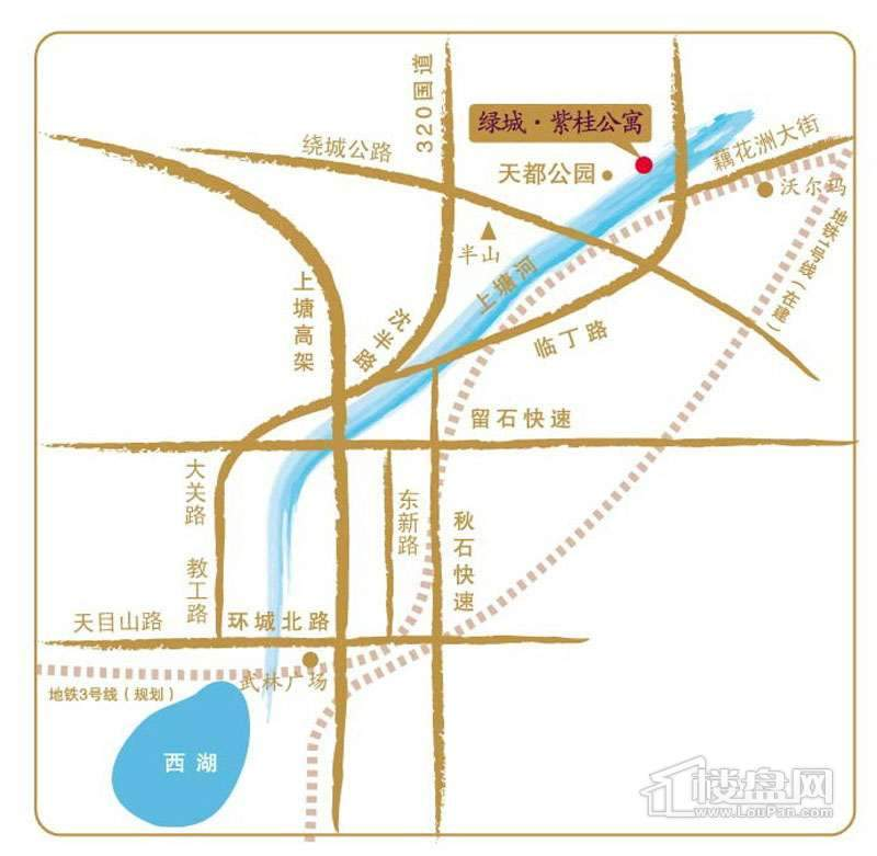 绿城·紫桂公寓交通图