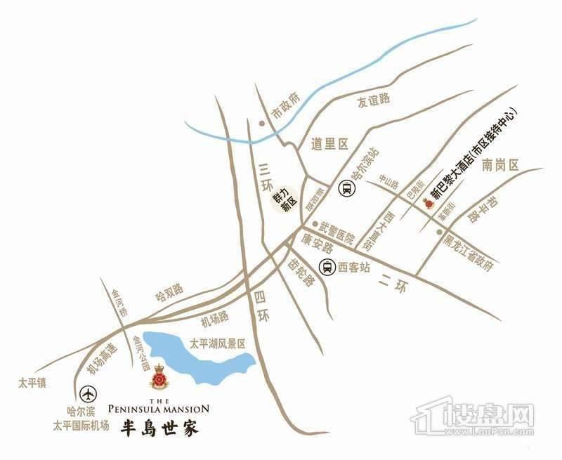 半岛世家交通图