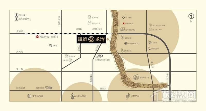 凯德·龙湾交通图